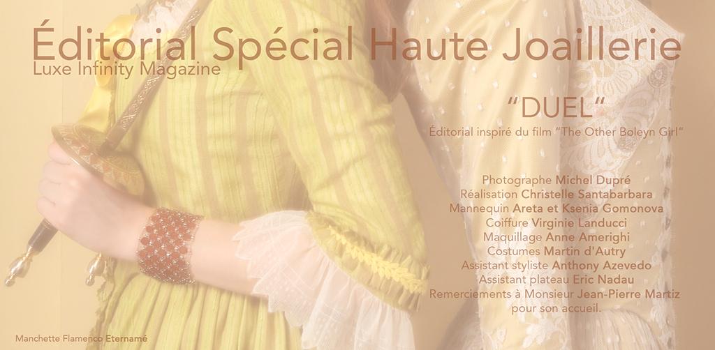 """Éditorial Spécial Haute Joaillerie """"DUEL"""" 2"""