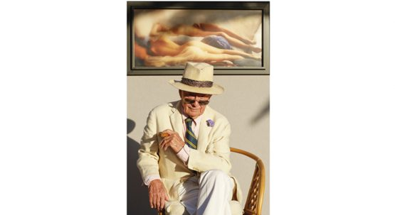 David Hamilton a la Soiree Blanche a St tropez Christophe Leroy. Un Homage au photographe David Hamilton avec comme Parrain et Marraine. St Tropez, FRANCE - 08/07/2016