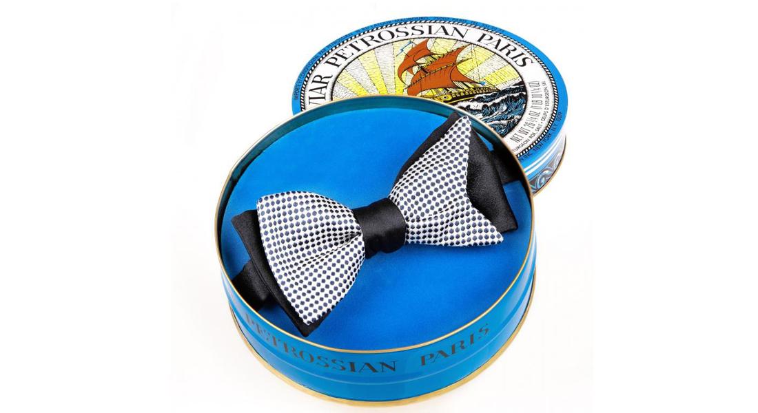 Le cravatier luxe MAISON F s'associe au caviar Petrossian