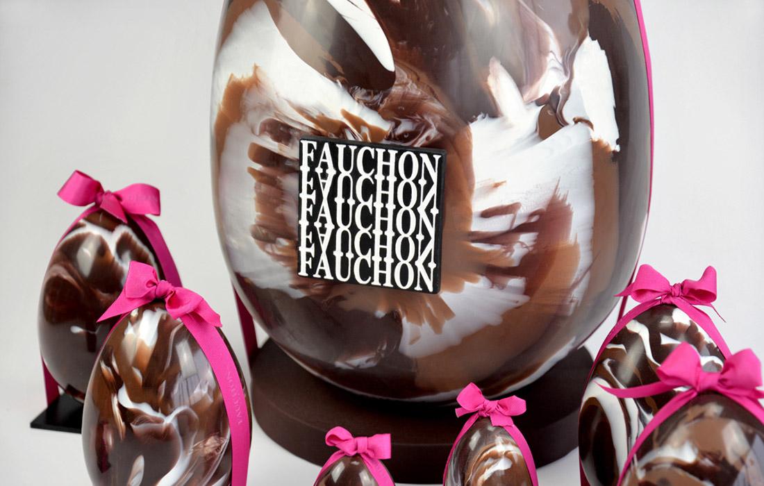 La collection marbrée Melting Choc de Fauchon,  9 kilos de délice