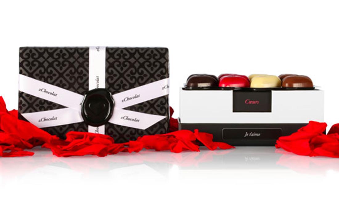 Offrez à votre moitié une des nouvelles collections Saint-Valentin de zChocolat pour lui prouver votre amour