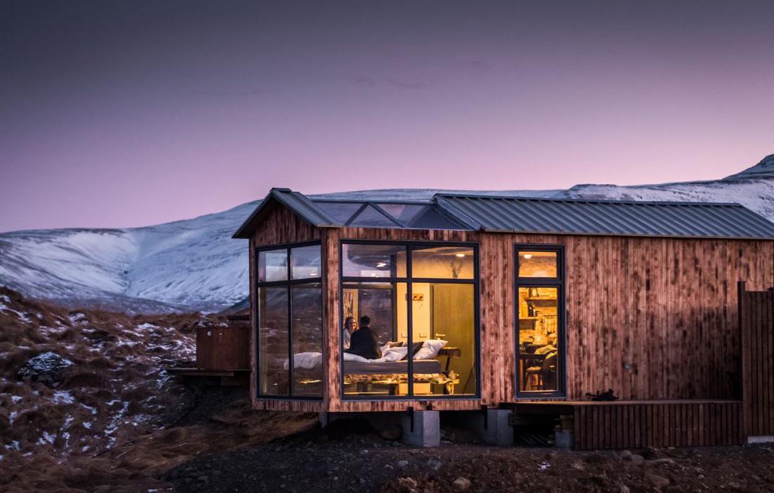 Vivez une expérience exceptionnelle en Islande dans le Glass Lodge!