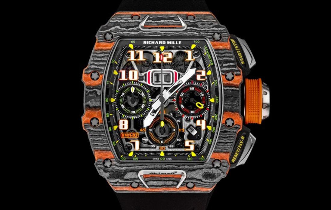 La RM 11-03 Automatique Chronographe Flyback McLaren: une montre fruit d'une collaboration entre Richard Mille et McLaren