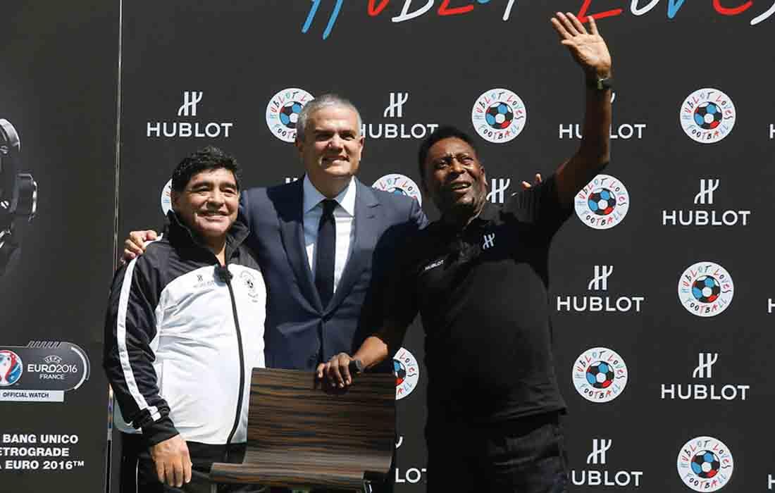 Hublot choisit Diego Maradona et Pelé pour sa campagne dans le cadre de la Mondiale 2018