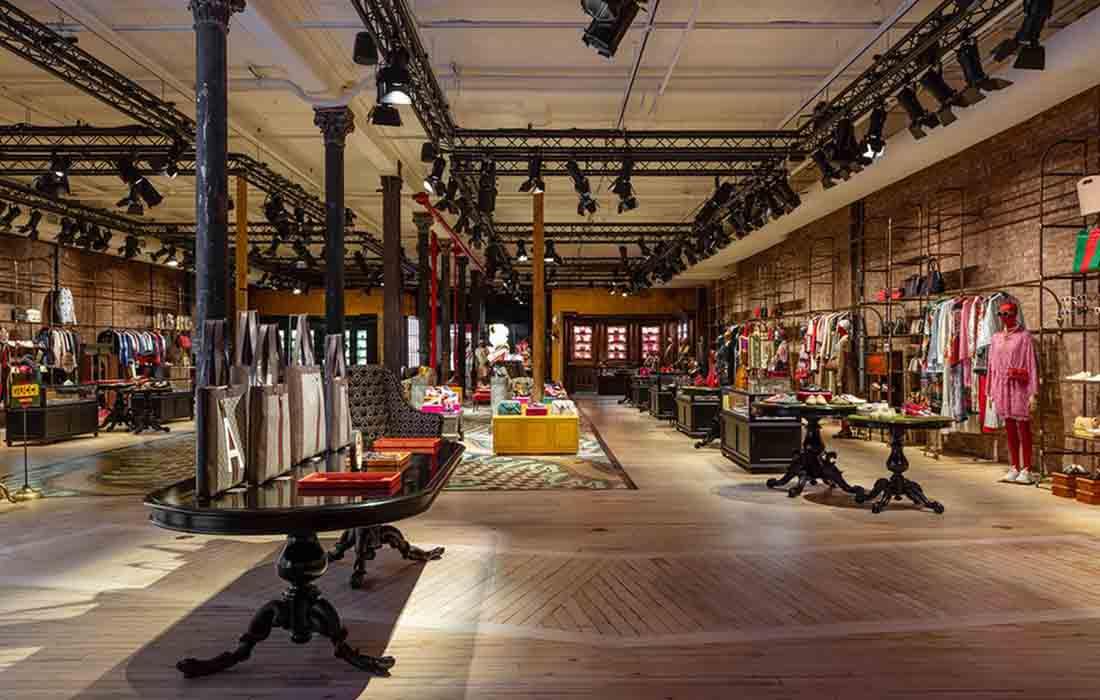 Le Gucci Whooster, un vaste espace de la marque italienne à New York