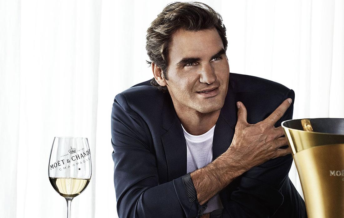 Moët & Chandon rend hommage aux 20 ans de carrière de Roger Federer