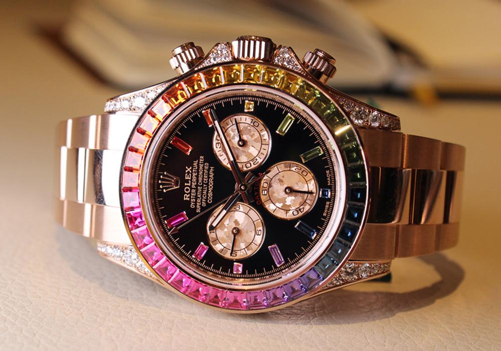 Rolex dévoile la Cosmograph Rainbow Daytona, une création haute en couleur