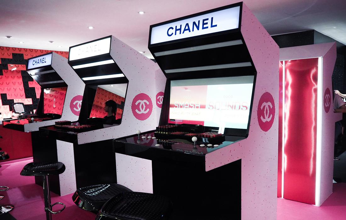 La salle d'arcade de la maison de luxe Chanel: Chanel Coco Game Center