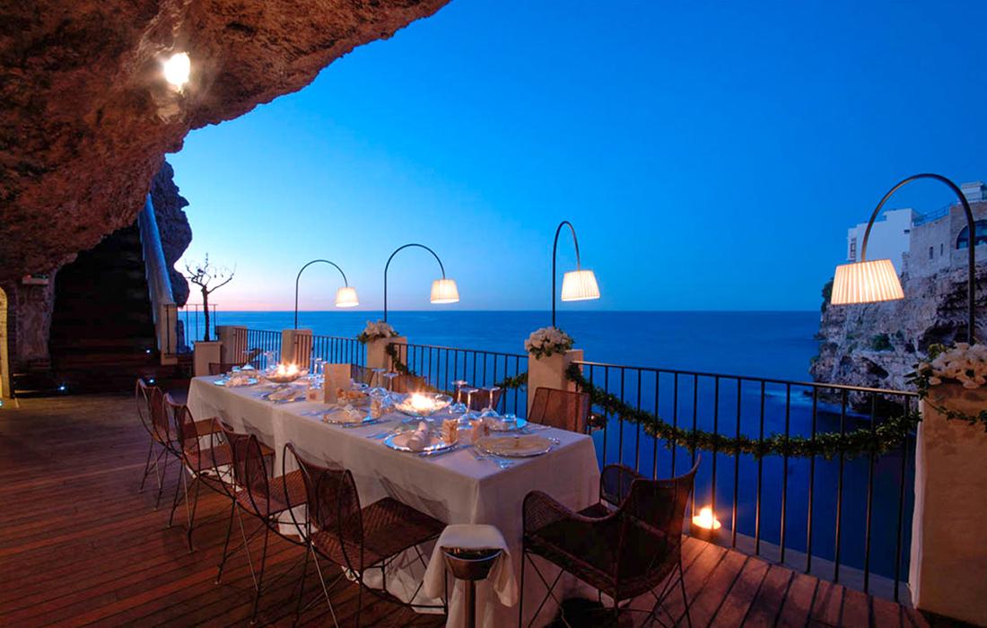 Grotta Palazzese, un restaurant d'exception et unique en son genre