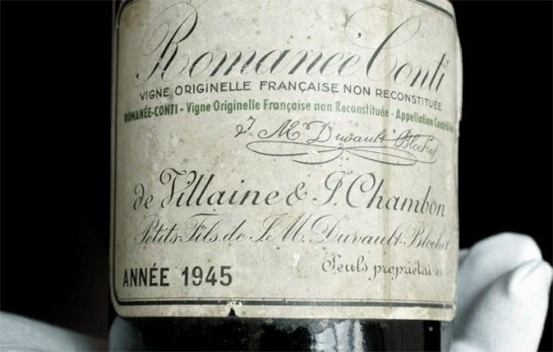 Le Romanée-Conti 1945 : le vin le plus cher du monde vendu aux enchères à 558 000 dollars