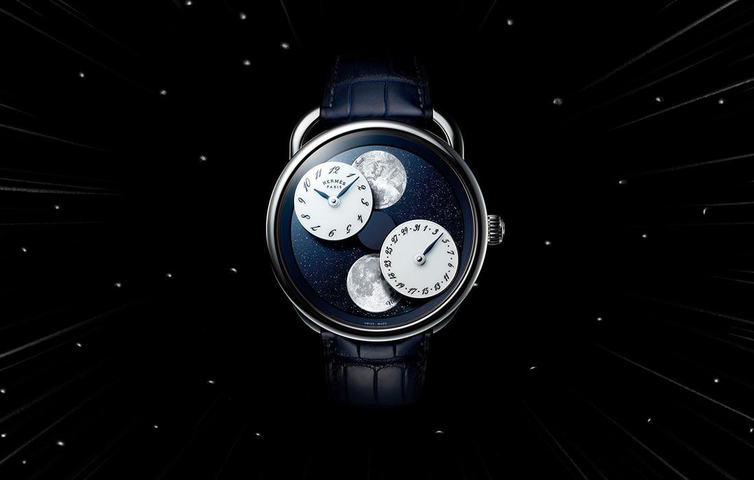 Hermes montre arceau l'heure de la lune dévoilée au salon horlogerie magazine luxe infinity