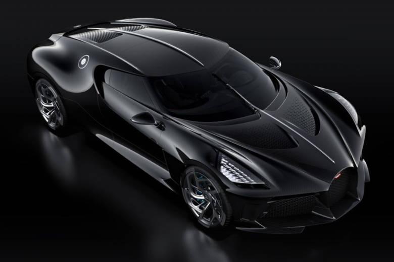 La voiture noire de chez Bugatti