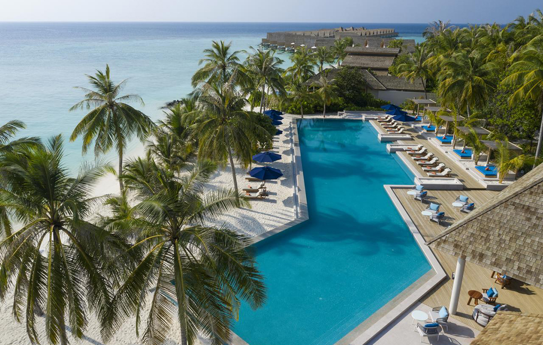 Luxe, calme et volupté au Faarufushi, le dernier né des hôtels Cinq étoiles aux Maldives.