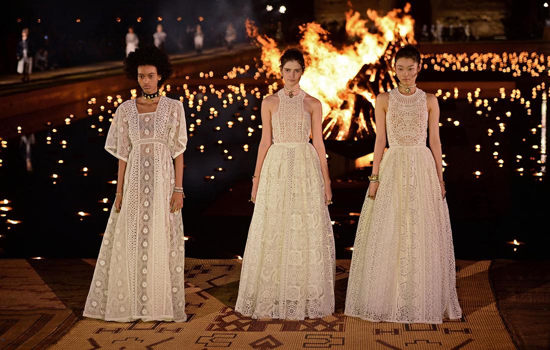 La collection croisière 2020 de Dior a été présenté au cœur de Marrakech