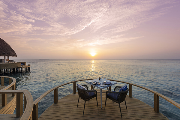 Restaurant hotel maldive