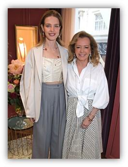 Caroline Scheufele et Natalia Vodianova de l'ouverture de la nouvelle boutique Chopard sur Bond Street à Londres.