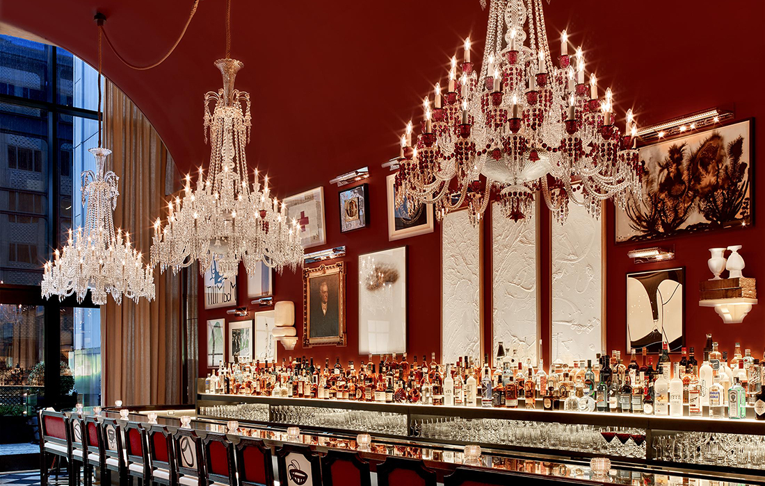 Baccarat Hôtel, le luxe French pétille à New York