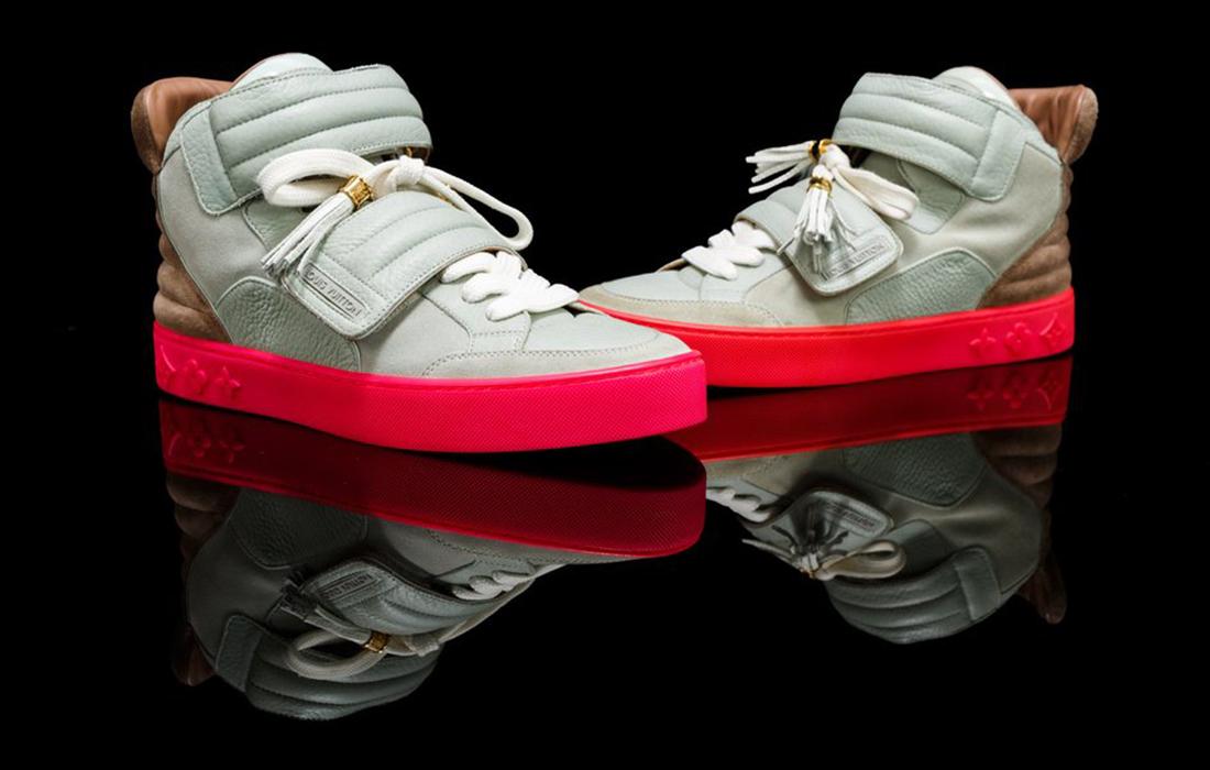 Louis Vuitton Jaspers Kanye Patchwork Grey-Pink
