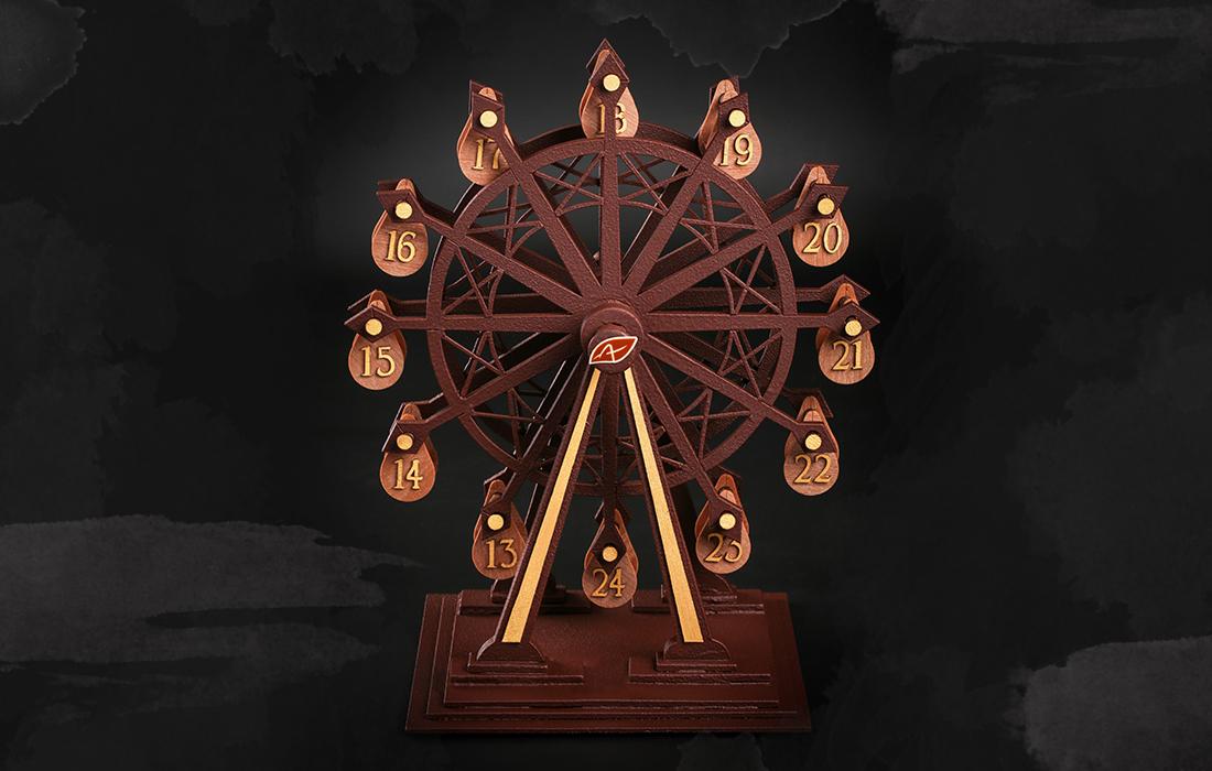 La grande roue de l'Avent: un concept original du calendrier de l'Avent par Patrick Agnellet